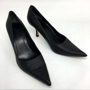 NINE WEST Black Embossed Stiletto High Heels EUC